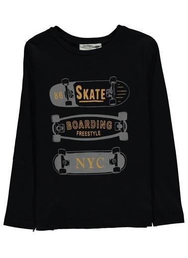 Morhipo Kids Baskılı Uzun Kol T-Shirt Lacivert